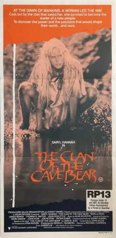 clan of the cave bear australian daybill poster 1986 (1)