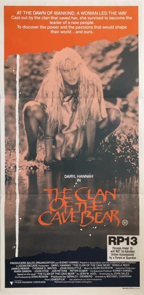 clan of the cave bear australian daybill poster 1986 (1)