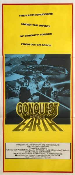 conquest of the earth australian daybill poster 1981 battle star galactica