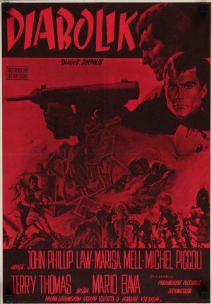 danger diabolik 1968 yugoslavian poster, john phillip law, marisa mell