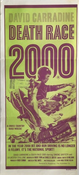 death race 2000 australian daybill poster 1975 david carradine