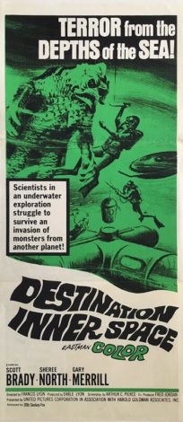 destination inner space australian daybill poster 1966