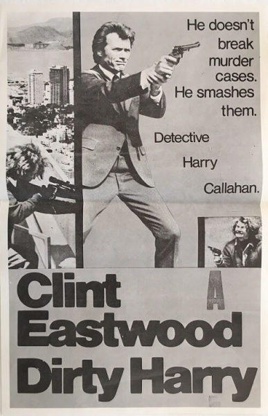 dirty harry poster new zealand 1971