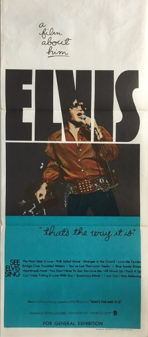 elvis thats the way it is australian daybill poster 1970