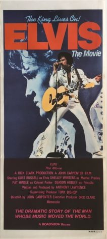 elvis the movie australian daybill poster 1979 kurt russell