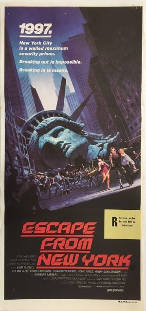escape from new york australian daybill poster 1981