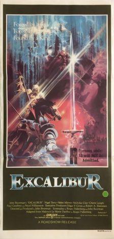excalibur australian daybill poster 1981