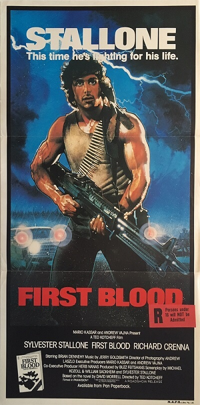 first blood rambo australian daybill poster 1982 FBR82DB1