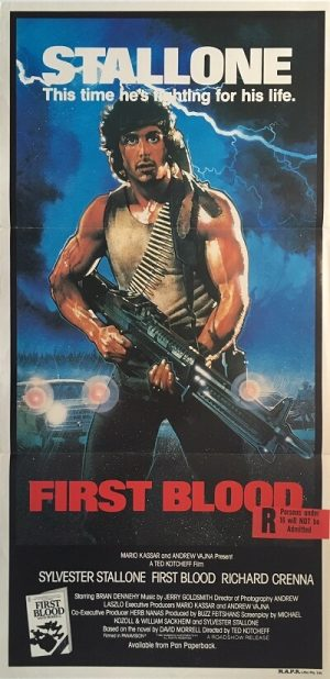 first blood rambo australian daybill poster 1982 FBR82DB2
