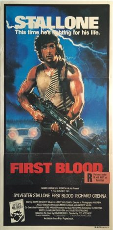first blood rambo australian daybill poster 1982 FBR82DB3 (1)