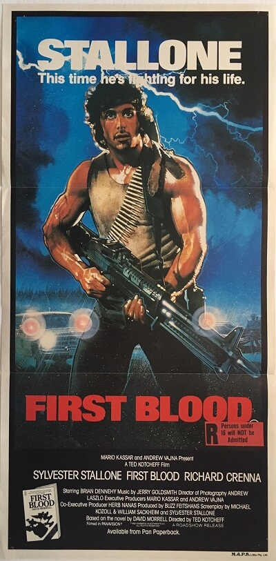 first blood rambo australian daybill poster 1982 FBR82DB4 (1)