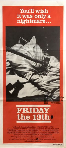 friday the 13th australian daybill poster 1980