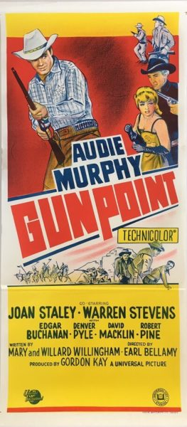 gunpoint 1966 daybill poster, audie murphy, joan staley, warren stevens