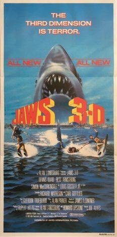 jaws 3D australian daybill poster 1983 jaws 3-D 3d