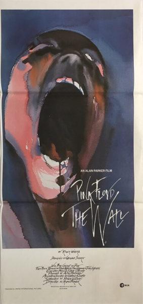 pink floyd the wall australian daybill poster db1 1982