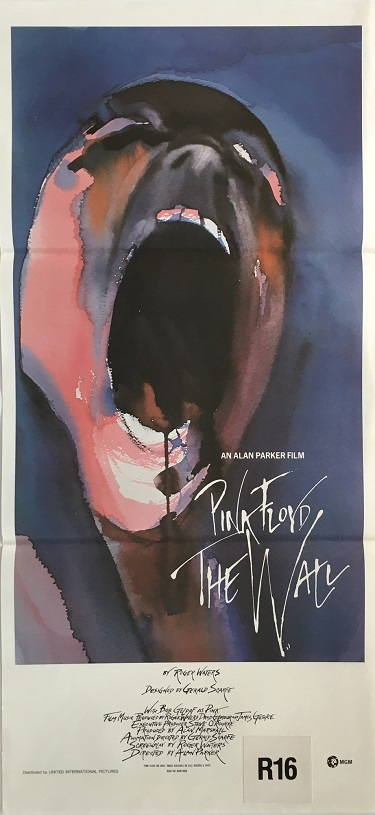 pink floyd the wall australian daybill poster db2 1982