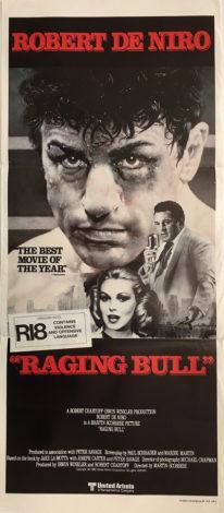 raging bull australian daybill poster 1980
