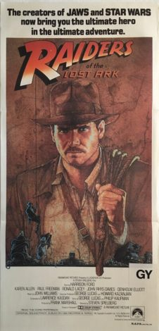 raiders of the lost ark 1981 indiana jones australian daybill poster RLA81DB3 (1)