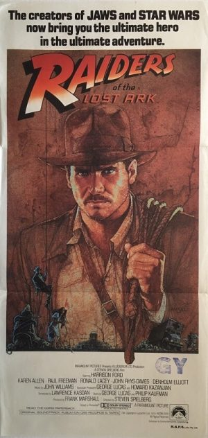 raiders of the lost ark 1981 indiana jones australian daybill poster RLA81DB4 (1)