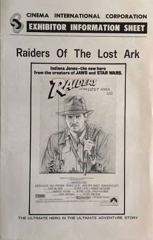 raiders of the lost ark 1981 indiana jones exhibitor information sheet (1) (1)