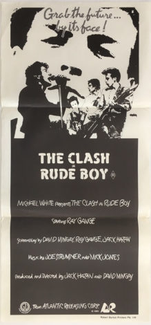 rude boy the clash 1980 australian daybill poster DB1