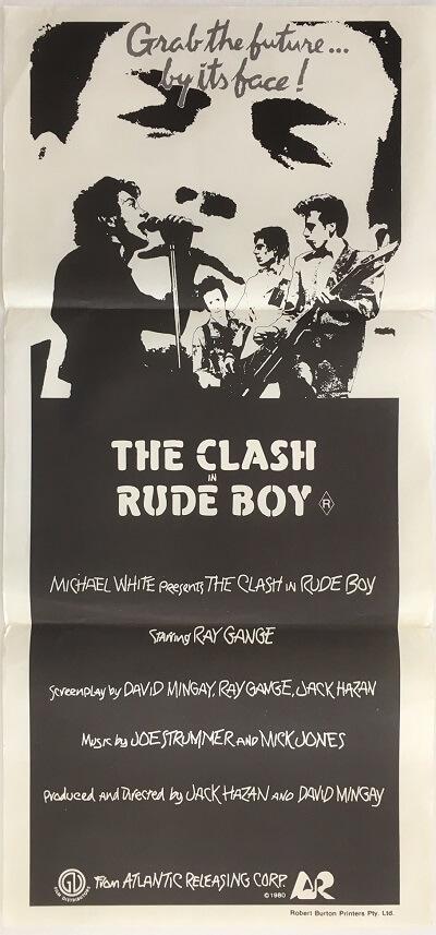 rude boy the clash 1980 australian daybill poster DB1