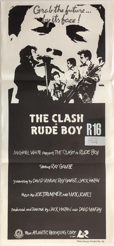 rude boy the clash 1980 australian daybill poster DB2