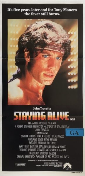 staying alive australian daybill poster 1978