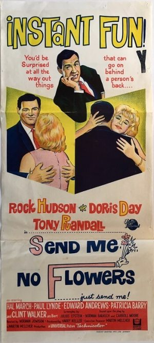 send me no flowers daybill poster