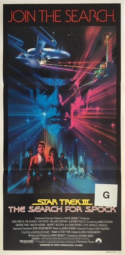 star trek 3 the search for spock australian daybill poster 1984