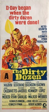 the dirty dozen australian daybill poster 1967