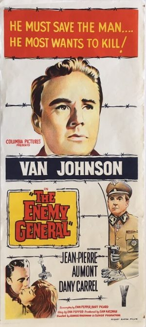 the enemy general 1960 daybill poster val johnson, jean-pierre aumont, dany carrel