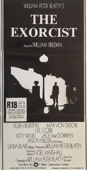 the exorcist new zealand daybill poster 1974