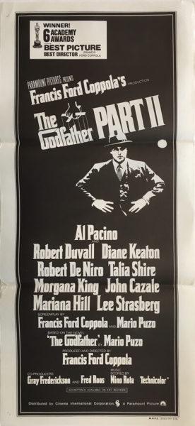 the godfather part 2 australian daybill poster 1974 db1