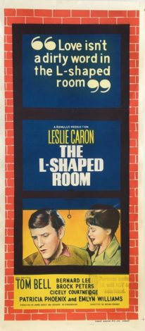 the l-shaped room 1962 daybill poster, leslie caron, anthony booth