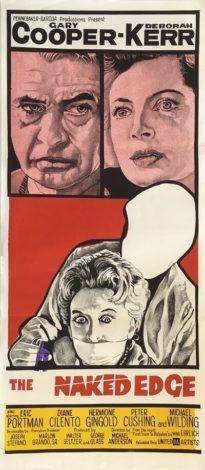 the naked edge 1961 daybill poster gary cooper deborah kerr