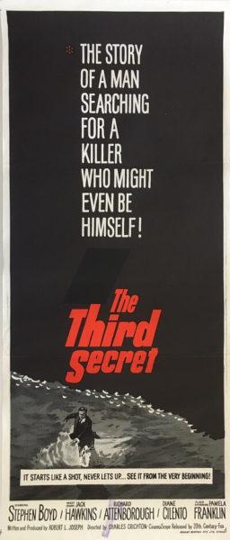 the third secret 1964 daybill poster, jack hawkins, richard attenborough