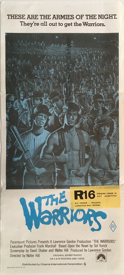 the warriors australian daybill poster R80 blue rerelease