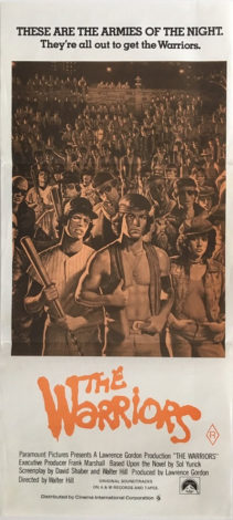 the warriors australian daybill poster R80 orange rerelease