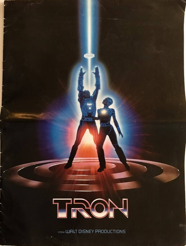 tron 1982 US press kit advertising book