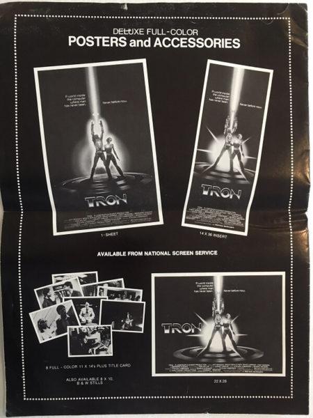 tron 1982 US press kit advertising book PB