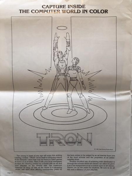 tron 1982 US press kit advertising book