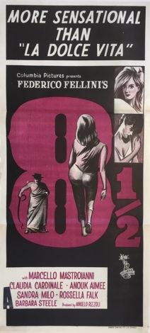 8 1/2 australian daybill poster federico fellini 1963