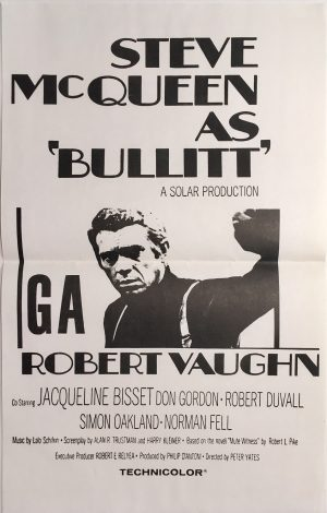 Bullitt 1970's Re-release New Zealand Daybill Poster - Steve McQueen