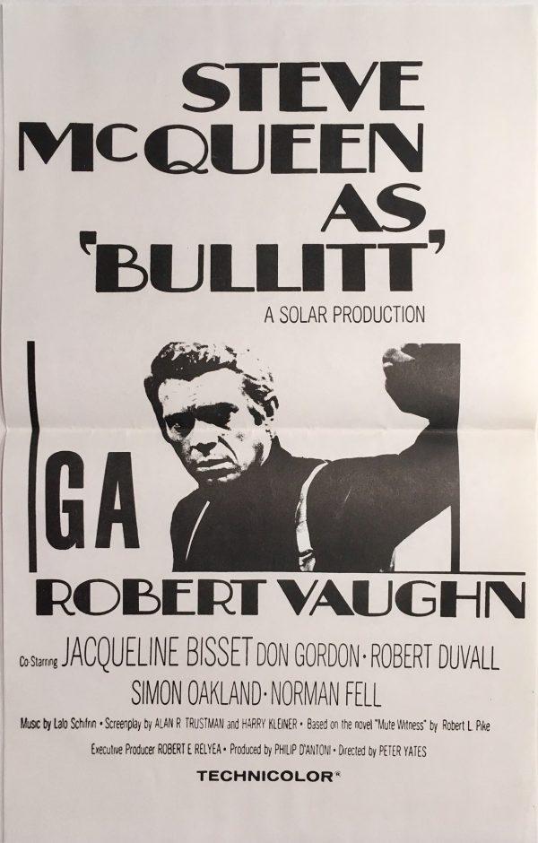 Bullitt 1970's Re-release New Zealand Daybill Poster - Steve McQueen