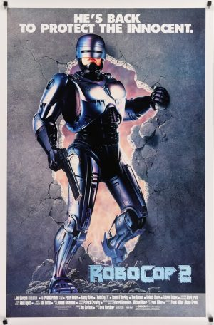 robocop 2 international standing us one sheet poster