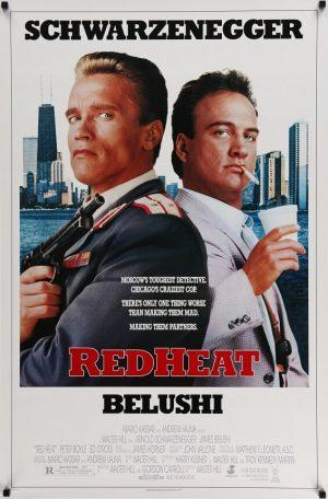 red heat us one sheet poster arnold schwarzenegger 1988