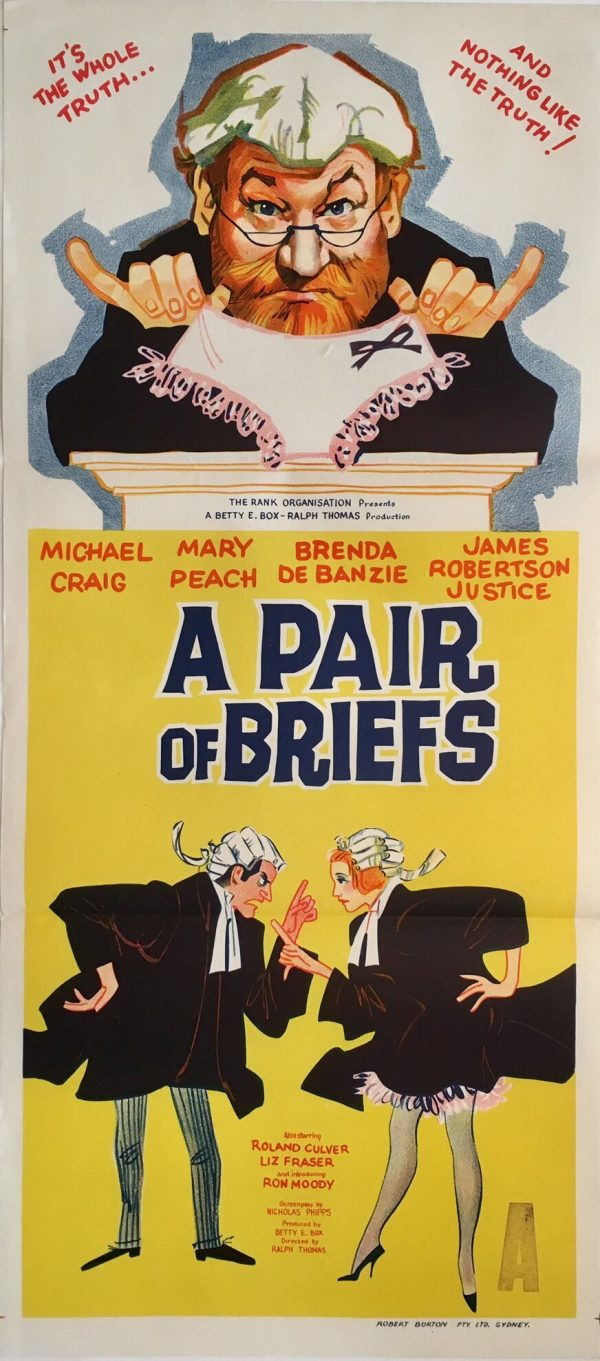 a pair of briefs australian daybill poster 1962