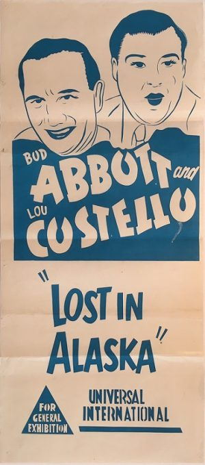 abbott and costello lost in alaska australian daybill poster 1952