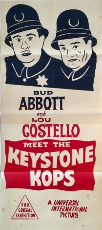 abbott and costello meet the keystone kops australian daybill 1955 poster